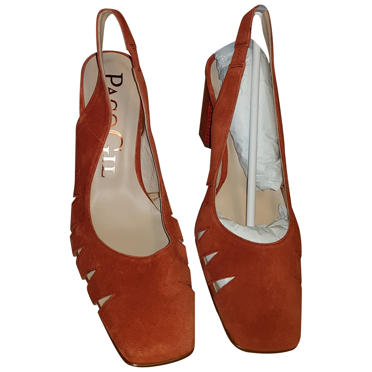 Paco Gil \N Orange Leather Heels for Women 40 EU