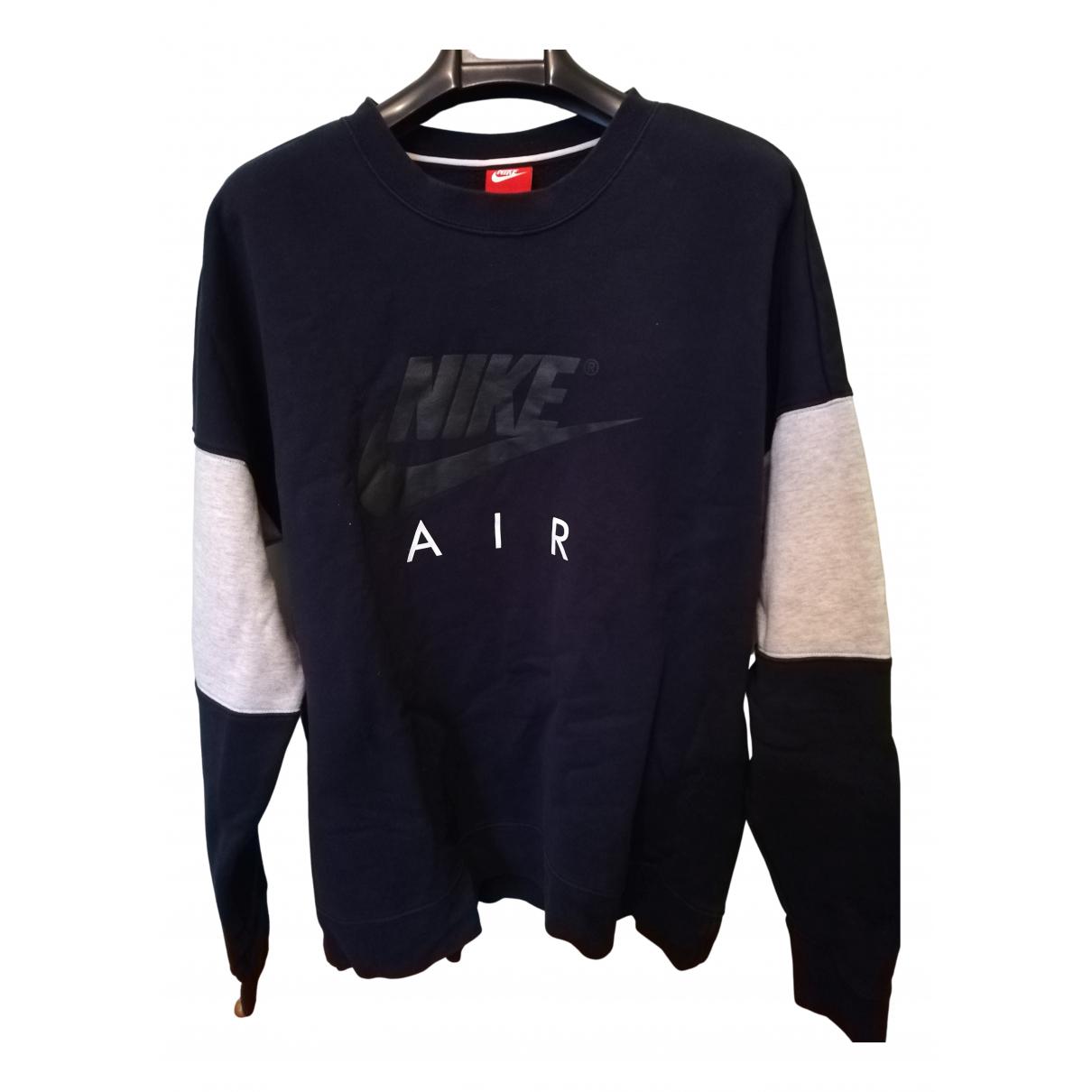 Nike \N Pullover.Westen.Sweatshirts  in  Blau Baumwolle