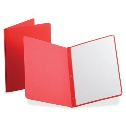 Oxford DUO-TANG report cover avec embossed border & panel - Rouge, 25/Paquet 240176