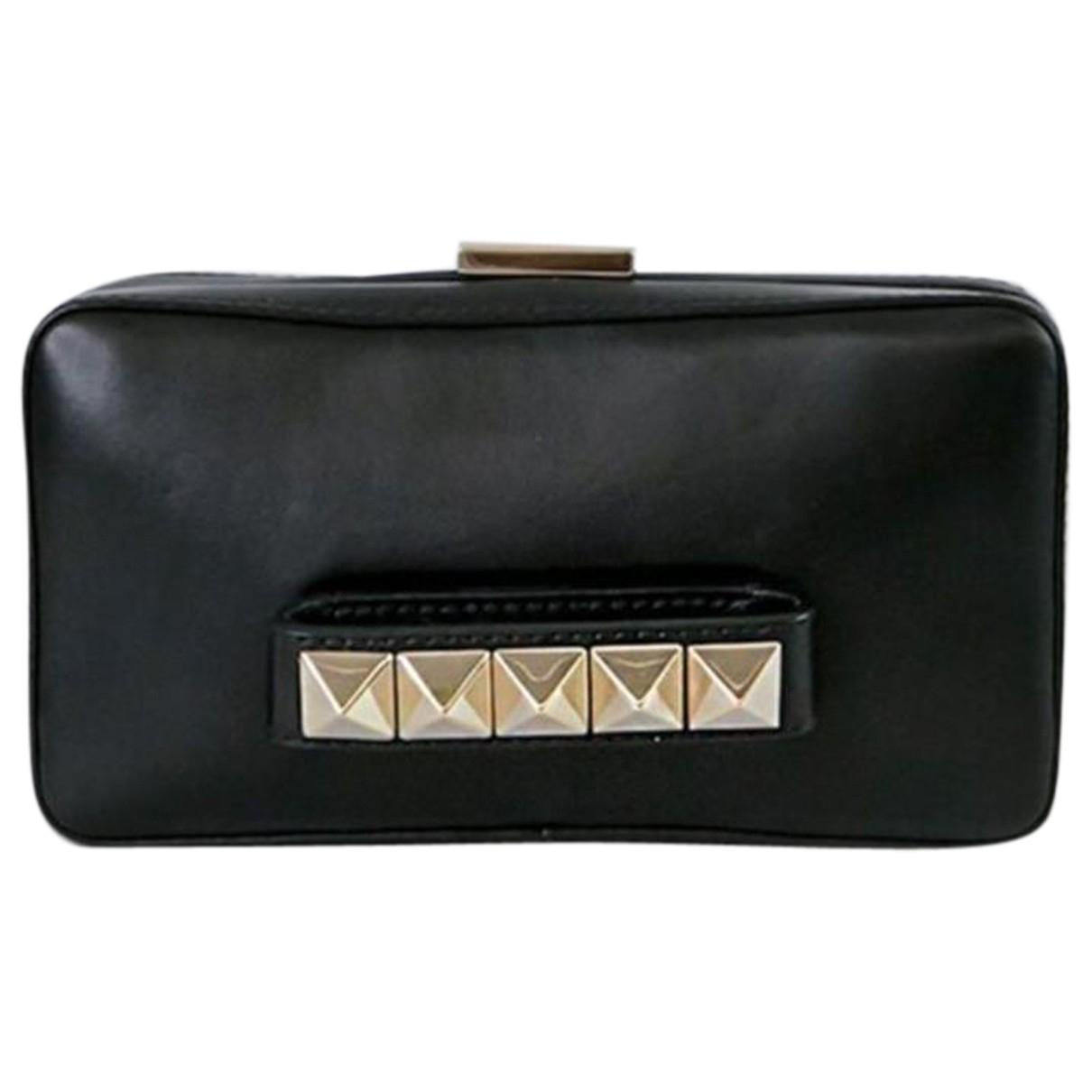Valentino Garavani - Pochette Vavavoom pour femme en cuir - noir