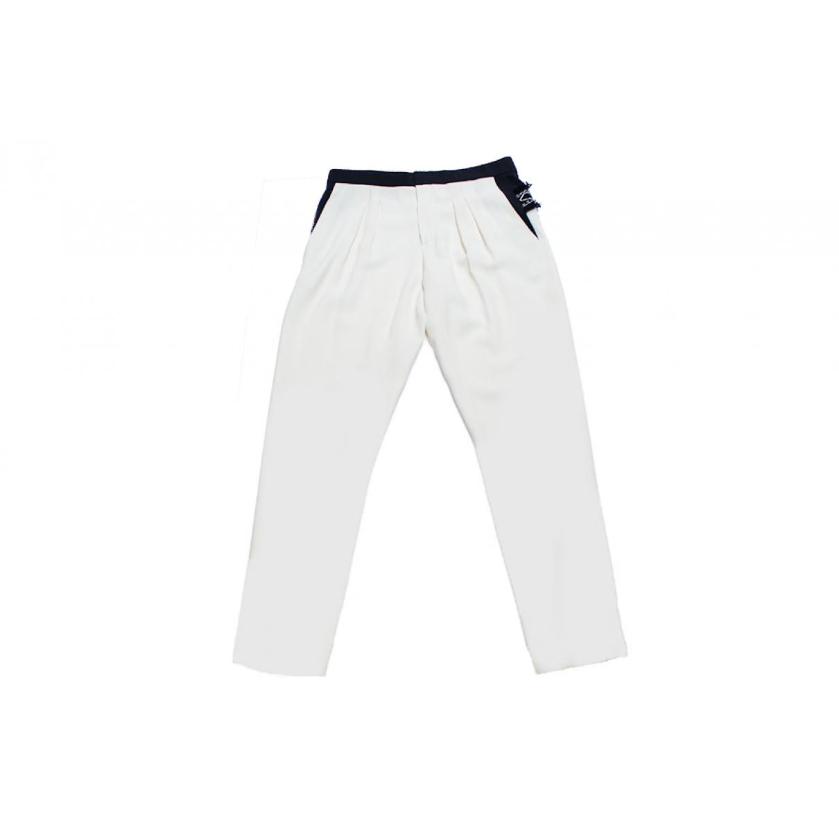 Chloé \N Ecru Trousers for Women 36 FR