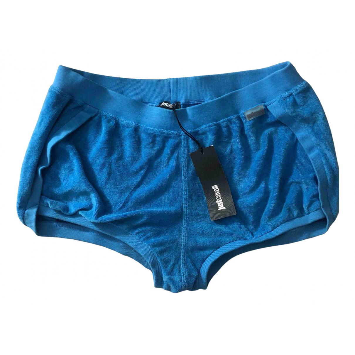 Just Cavalli \N Shorts in  Blau Baumwolle