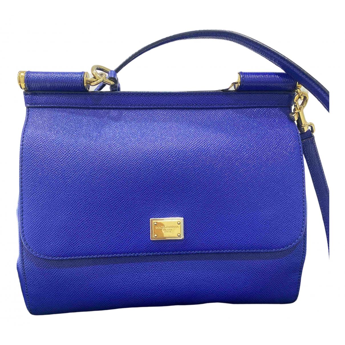 Dolce & Gabbana Sicily Blue Leather handbag for Women \N