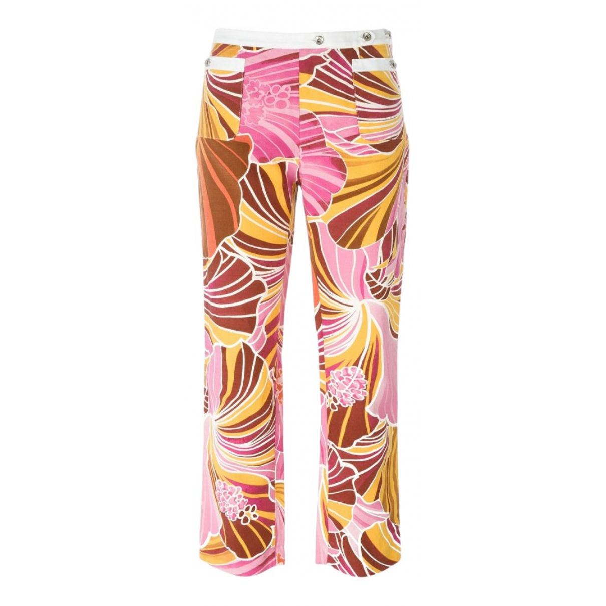 Dolce & Gabbana \N Multicolour Linen Trousers for Women 44 IT