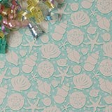 Seashells Gift Wrap - 24 X 417' - Gift Wrapping Paper - Type: Colored Ink On 50# Glossy Paper by Paper Mart