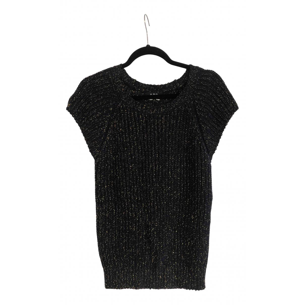 Apc - Pull   pour femme en laine - bleu
