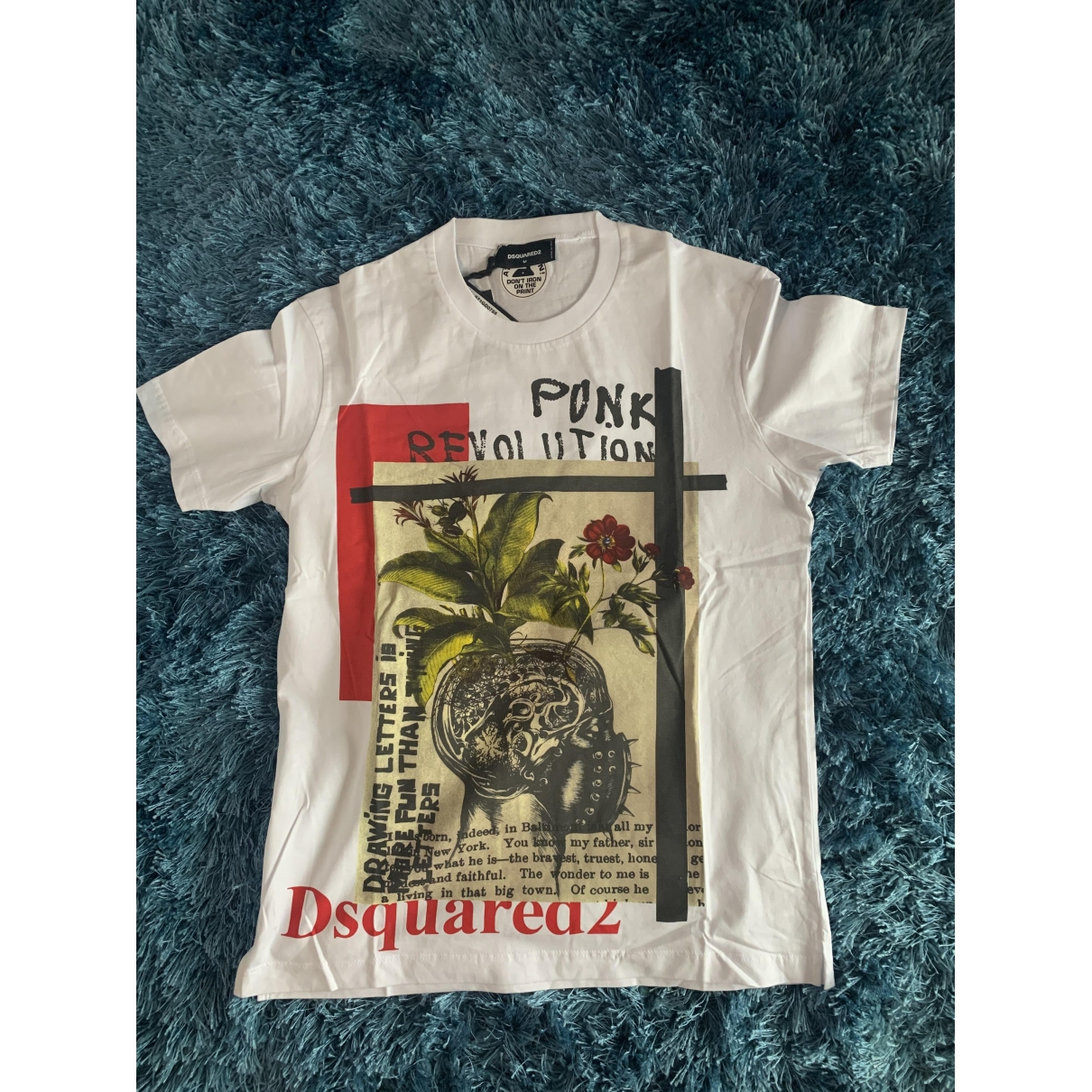 Dsquared2 \N White Cotton T-shirts for Men M International