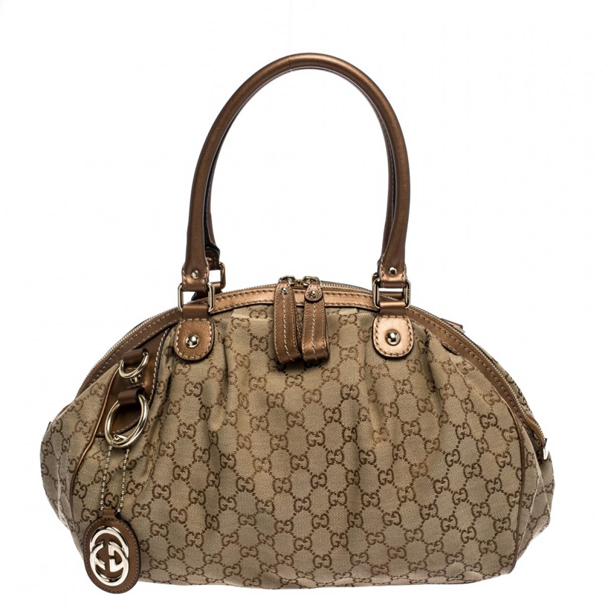 Gucci Sukey Metallic Leather handbag for Women \N