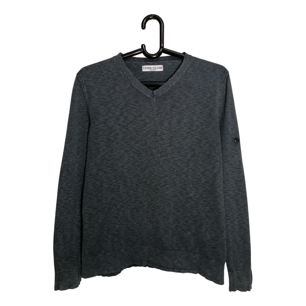 Stone Island \N Pullover.Westen.Sweatshirts  in  Grau Baumwolle