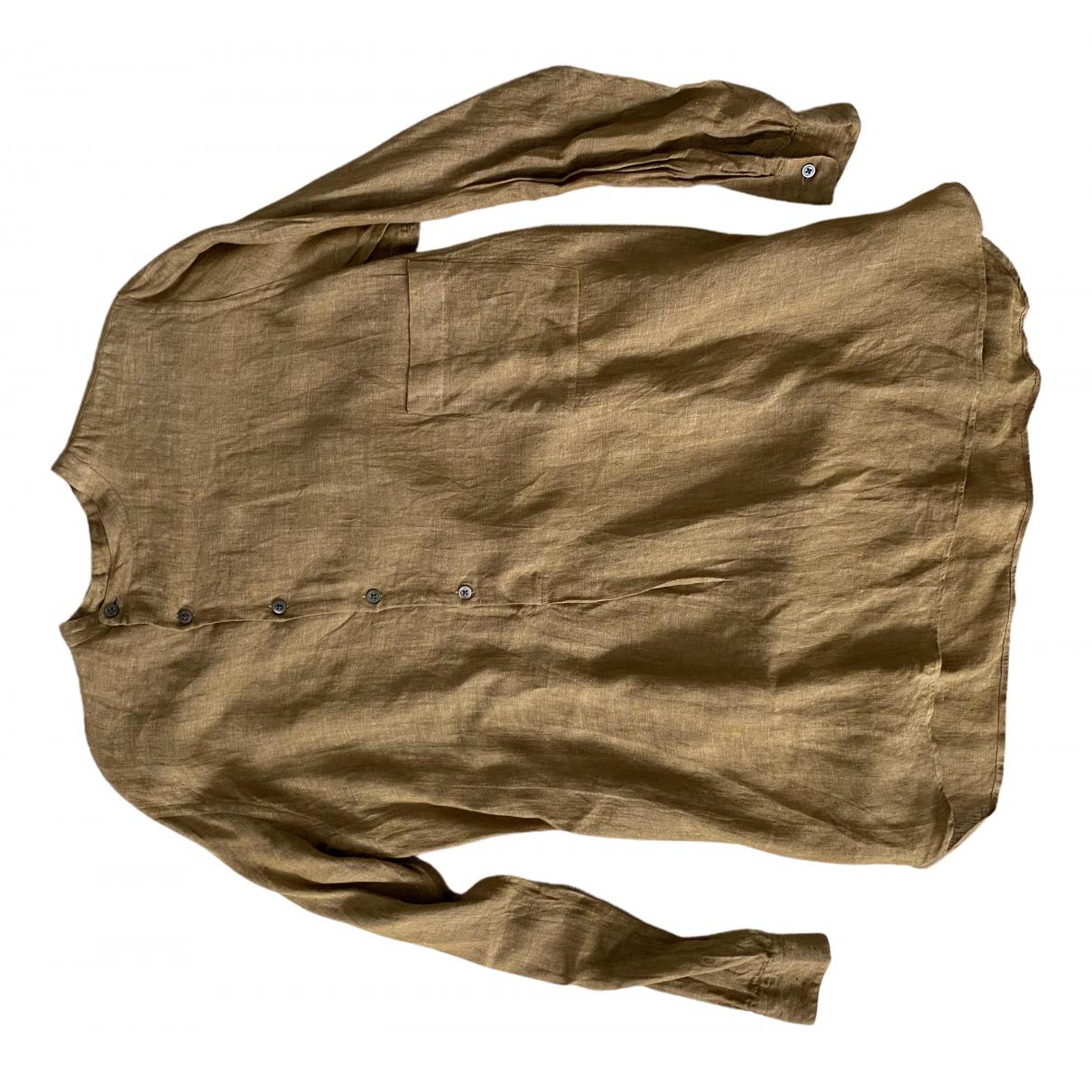 Lemaire \N Hemden in  Gold Leinen