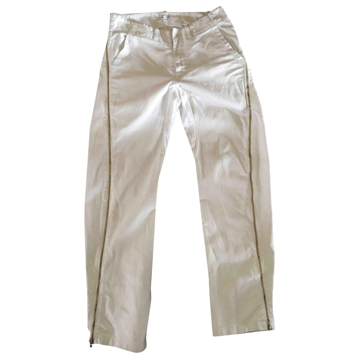 Parosh \N White Cotton Trousers for Men S International