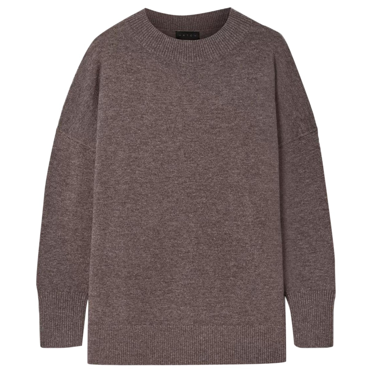 Hatch - Pull   pour femme en laine - marron