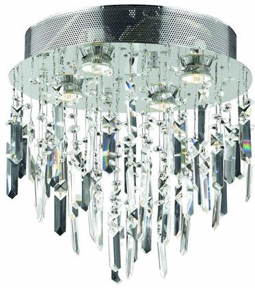 V2006F14SC/SS 2006 Galaxy Collection Flush Mount D:14In H:14In Lt:4 Chrome Finish (Swarovski   Elements