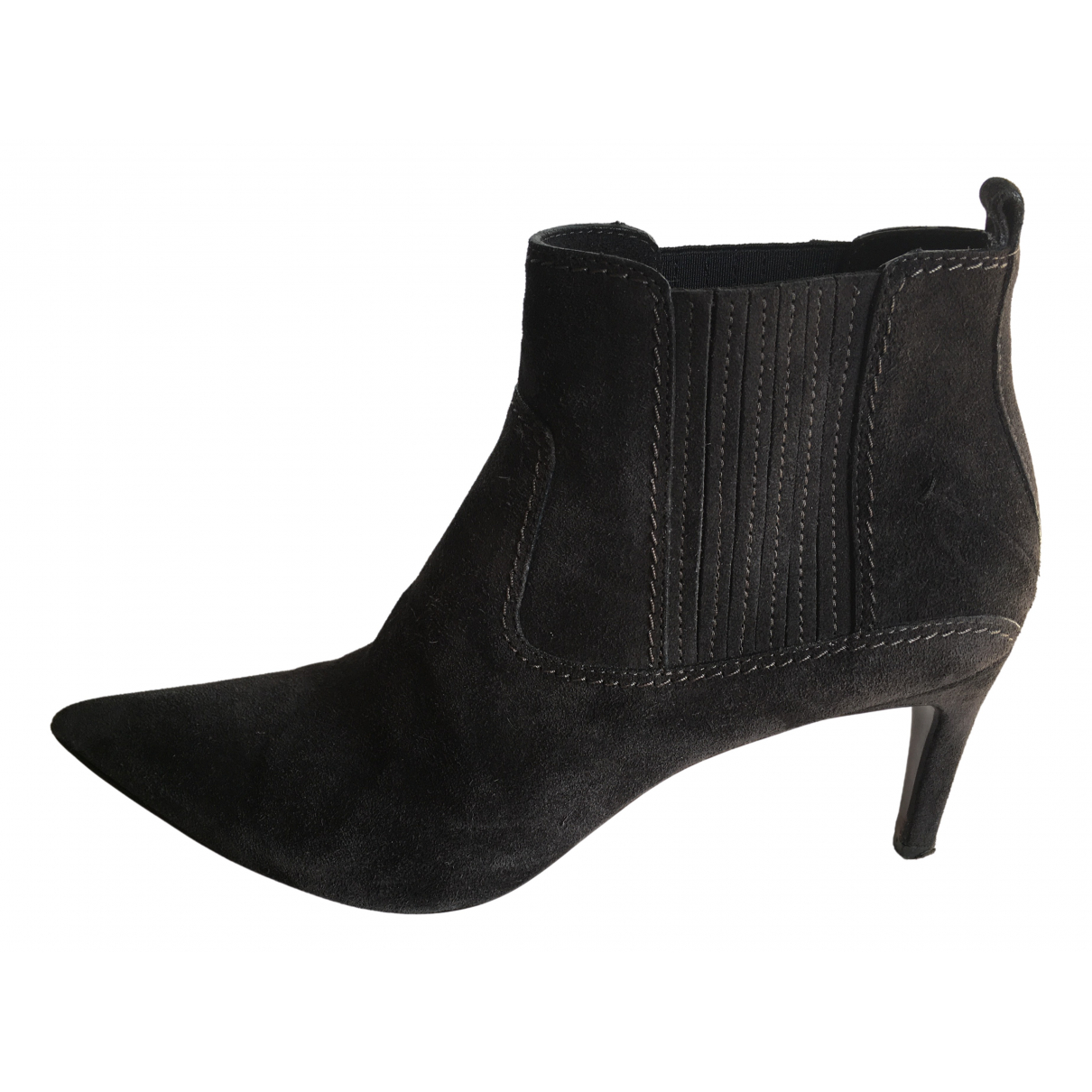 Costume National \N Grey Suede Ankle boots for Women 40 IT