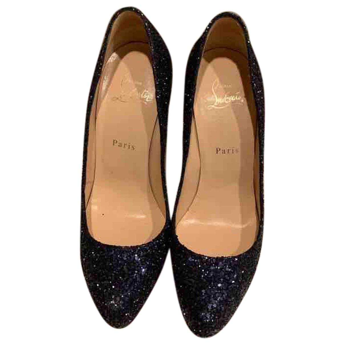Christian Louboutin \N Blue Glitter Heels for Women 38.5 EU
