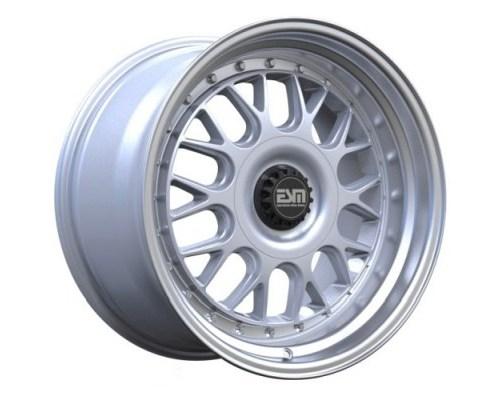 ESM Wheels ESM-004MSL18X85-5X100 Silver/Machined Polished Lip ESM-004M Cast Wheel 18x8.5 5x100/112 +35mm