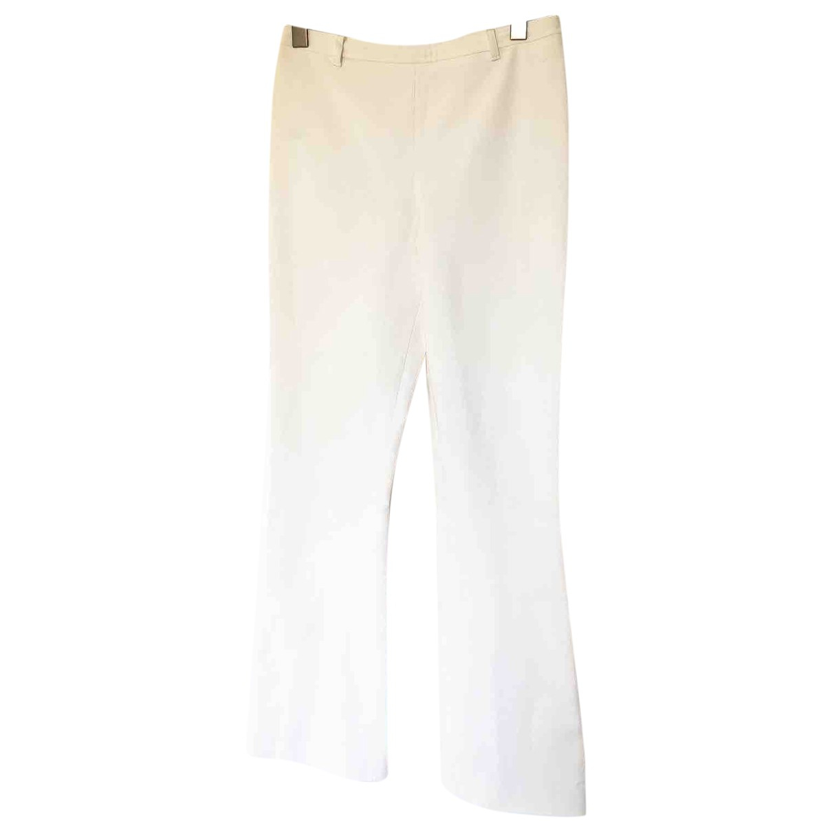 Prada \N White Trousers for Women 40 IT