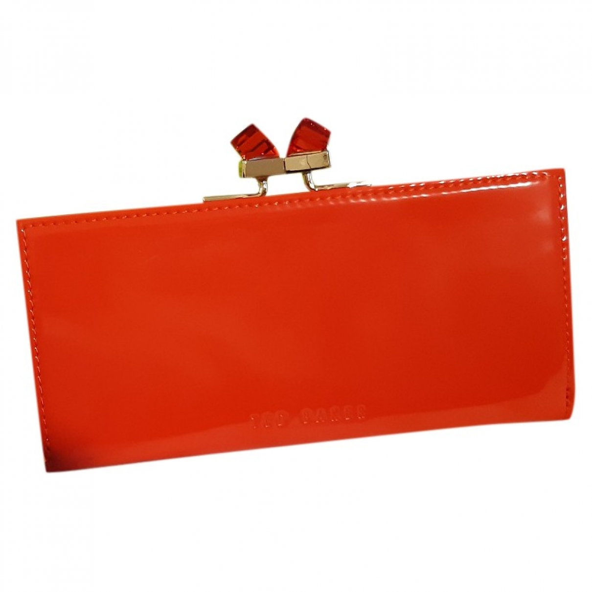 Ted Baker \N Orange Patent leather Purses, wallet & cases for Women \N