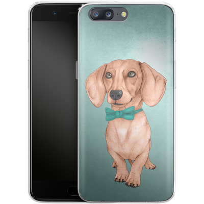 OnePlus 5 Silikon Handyhuelle - Dachshund the Wiener Dog von Barruf