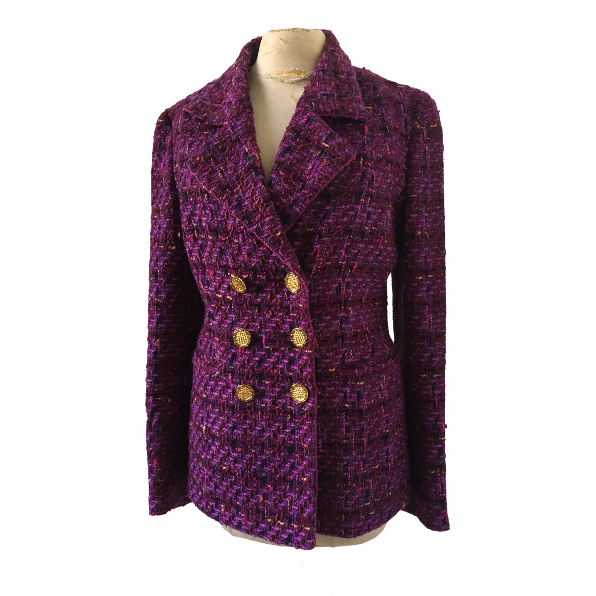 Non Signé / Unsigned \N Multicolour Wool jacket for Women 38 FR
