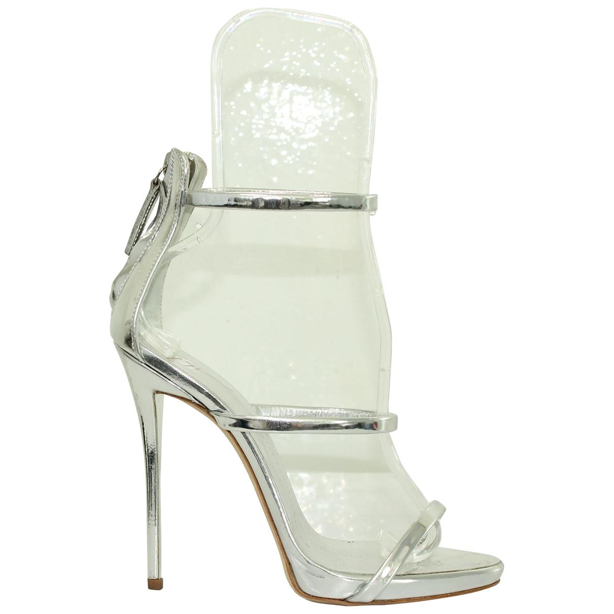 Giuseppe Zanotti \N Silver Leather Heels for Women 37 EU