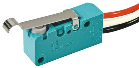 Panasonic SPST-NC Simulated Roller Lever Microswitch, 5 A @ 250 V ac