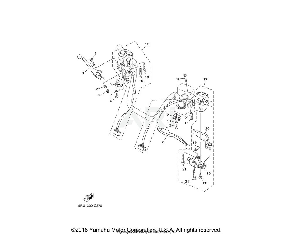 Yamaha OEM 5RU-83975-00-00 SWITCH, HANDLE 2
