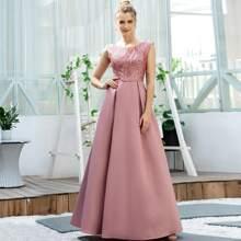 Kleid mit V Rueckseite und Pailletten