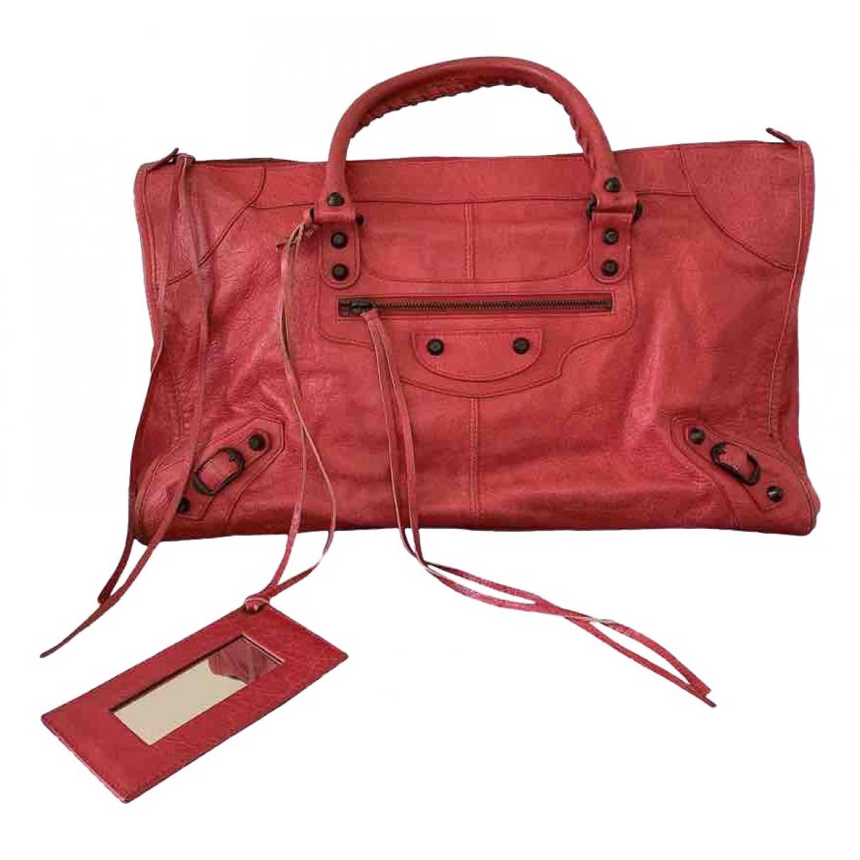 Balenciaga \N Handtasche in  Rosa Leder
