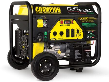 100297 8000-Watt Dual Fuel Portable Generator with 459cc Engine  Cold Start Technology  Volt Guard and Intelligauge in Black and