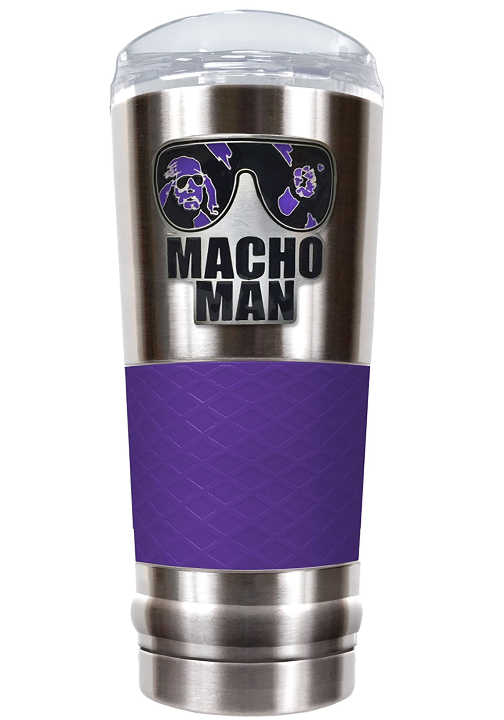 24 oz WWE Macho Man Stainless Steel Tumbler w/ Silicone Grip