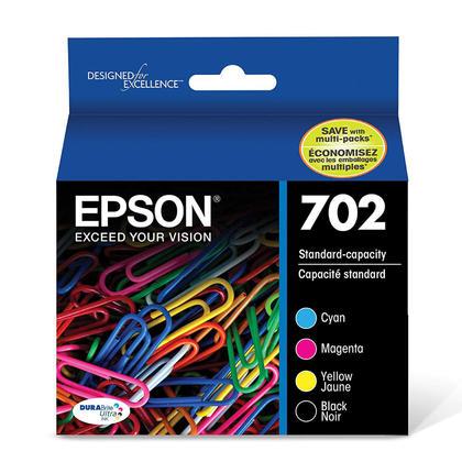 Epson T702 T702120-BCS cartouche d'encre originale combo BK/C/M/Y