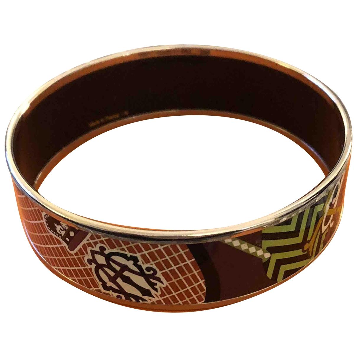 Hermes Bracelet Email Armband in  Bunt Silber