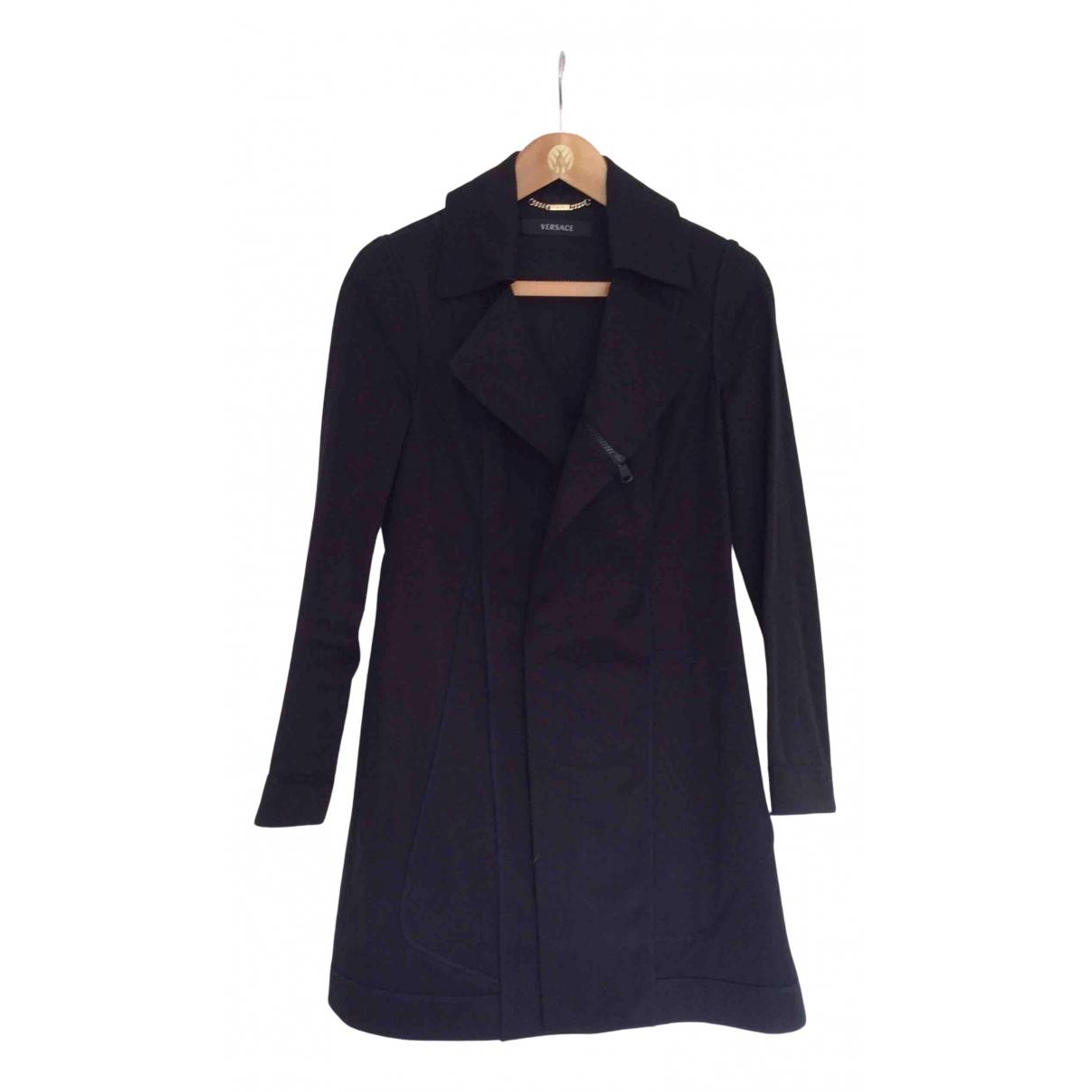 Versace - Manteau   pour femme en coton - noir