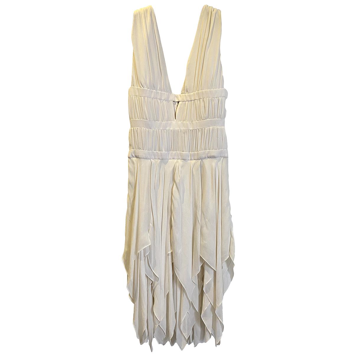 Balmain N White Silk dress for Women 38 FR