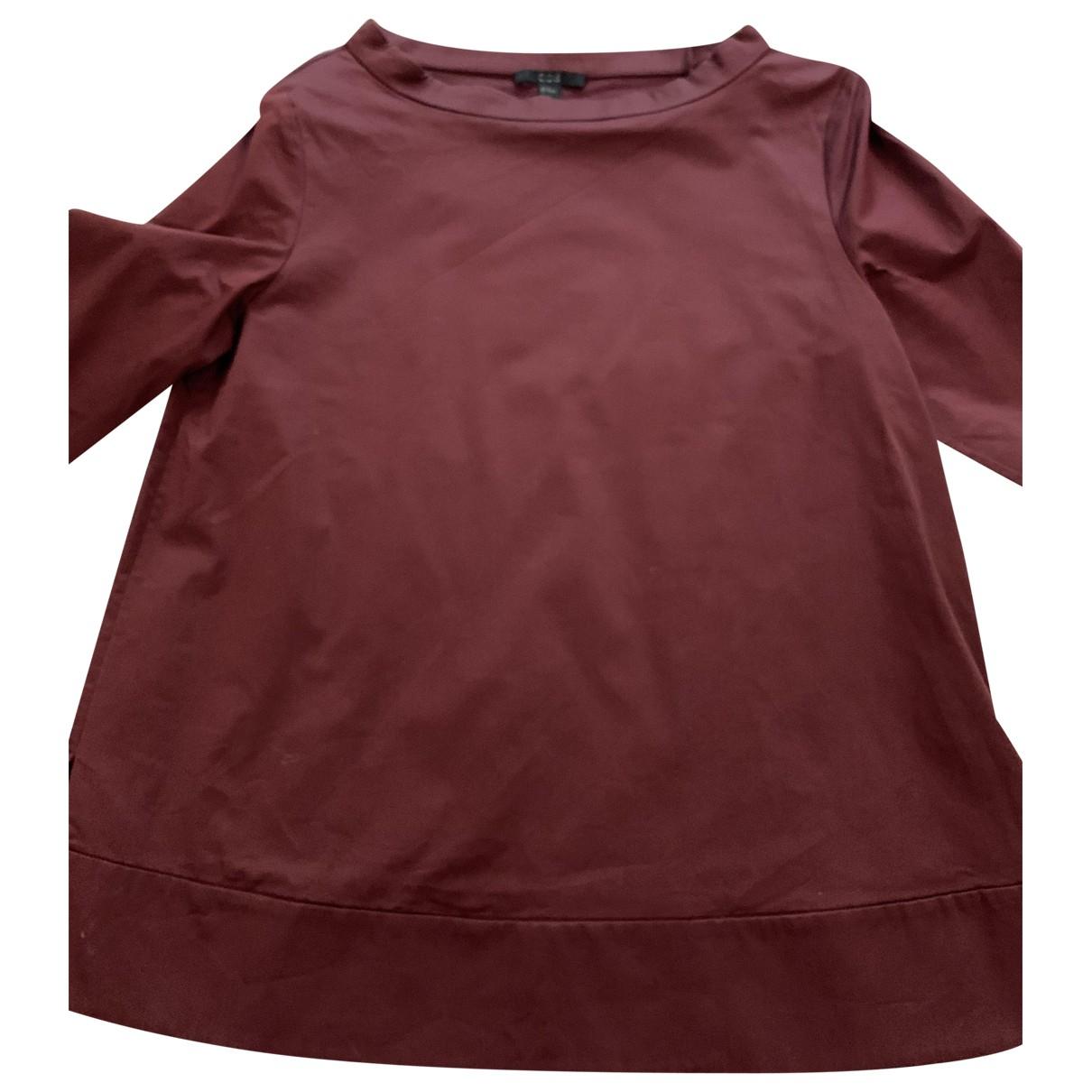 Cos - Top   pour femme en coton - bordeaux