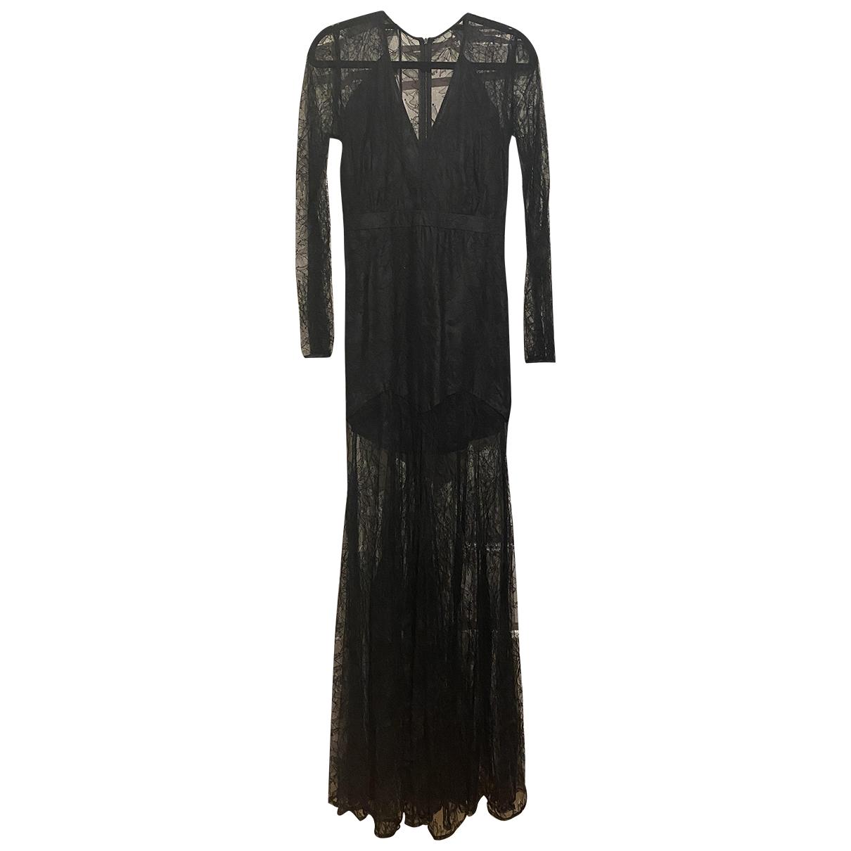 Mason By Michelle Mason \N Kleid in  Schwarz Spitze