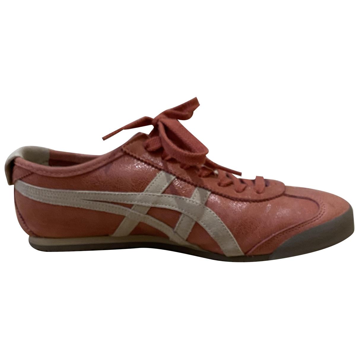Onitsuka Tiger - Baskets   pour homme en cuir - rouge