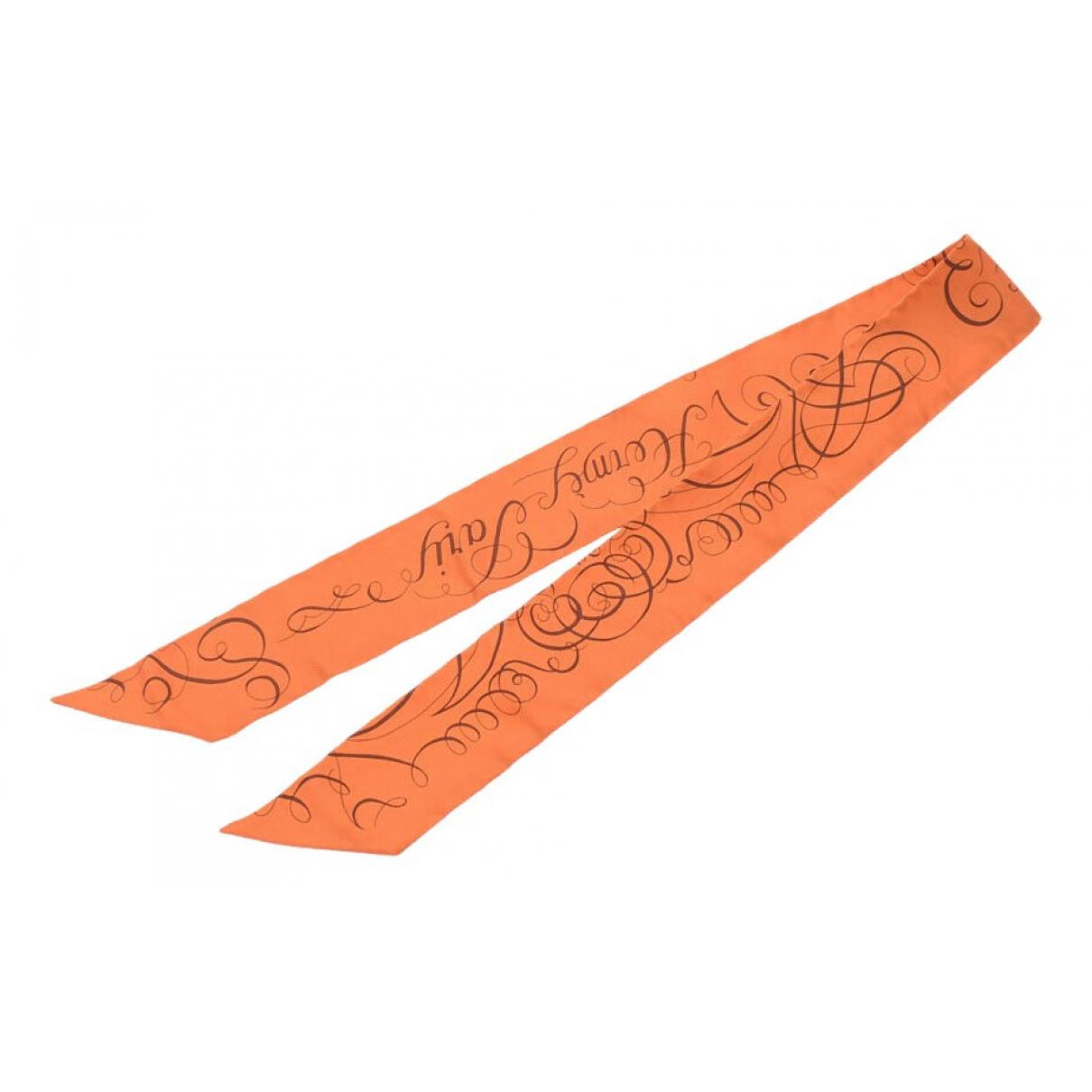 Hermès Twilly 86 Orange Silk scarf for Women \N