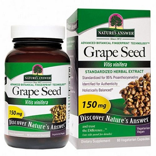 Grape Seed Standardized 60 Vcaps by Nature's Answer