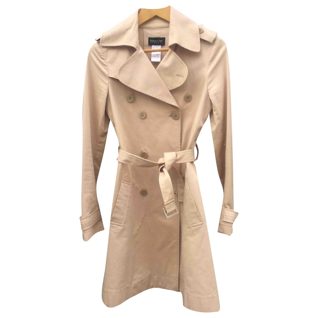Patrizia Pepe - Manteau   pour femme en coton - beige