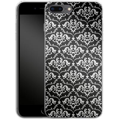 Apple iPhone 7 Plus Silikon Handyhuelle - Black French Lillies von caseable Designs