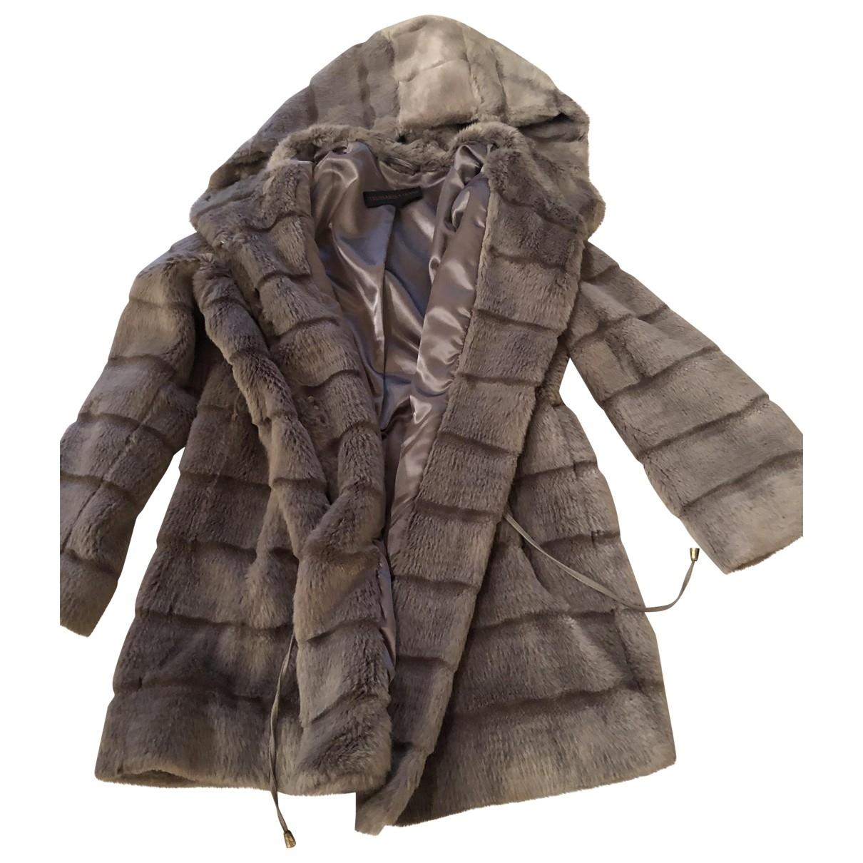 Trussardi Jeans \N Grey Faux fur coat for Women 44 FR