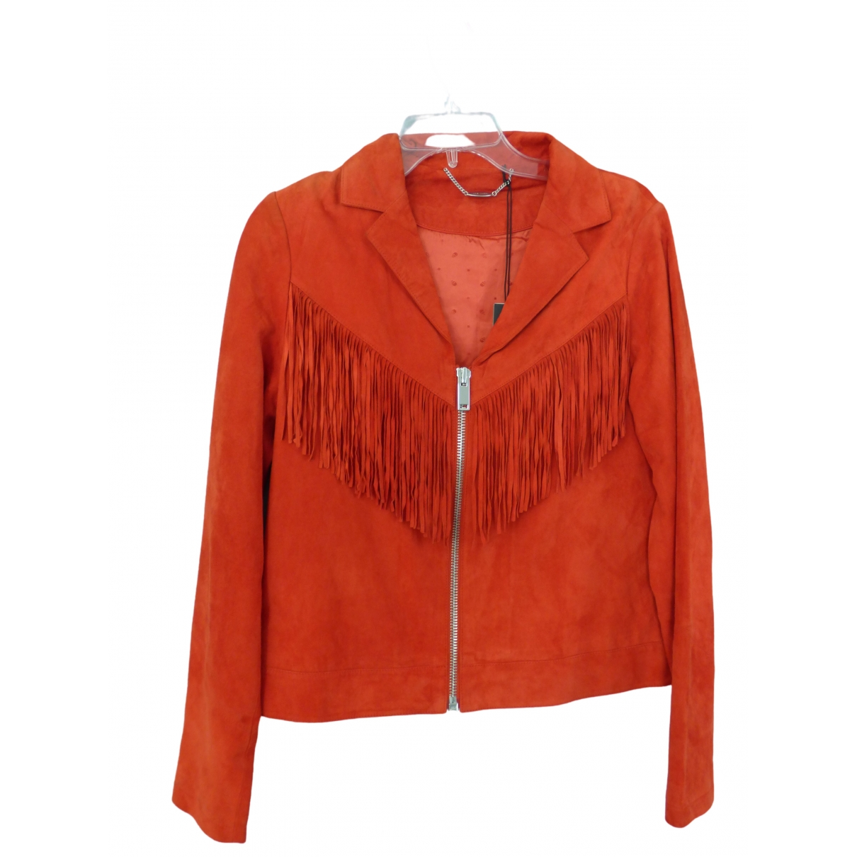 Ikks \N Red Leather Leather jacket for Women L International
