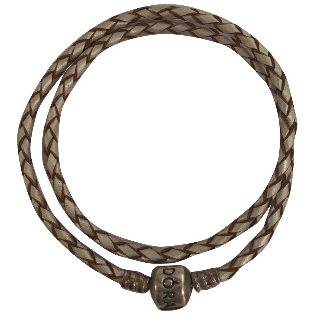 Pandora - Bracelet   pour femme en cuir - blanc