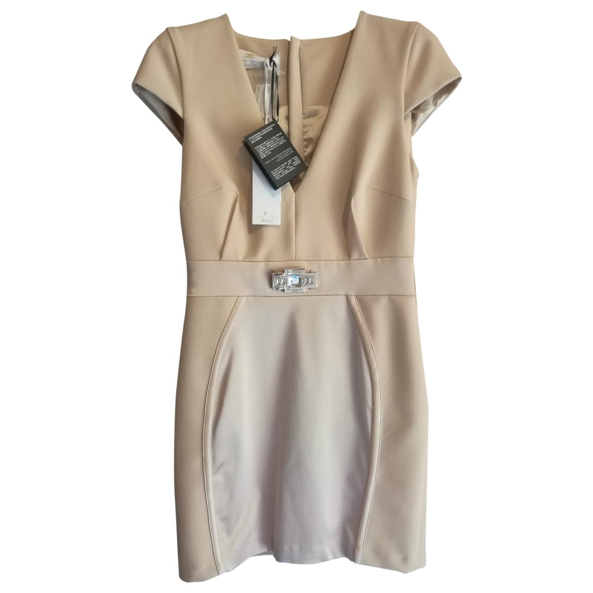 Elisabetta Franchi \N Beige dress for Women 42 IT