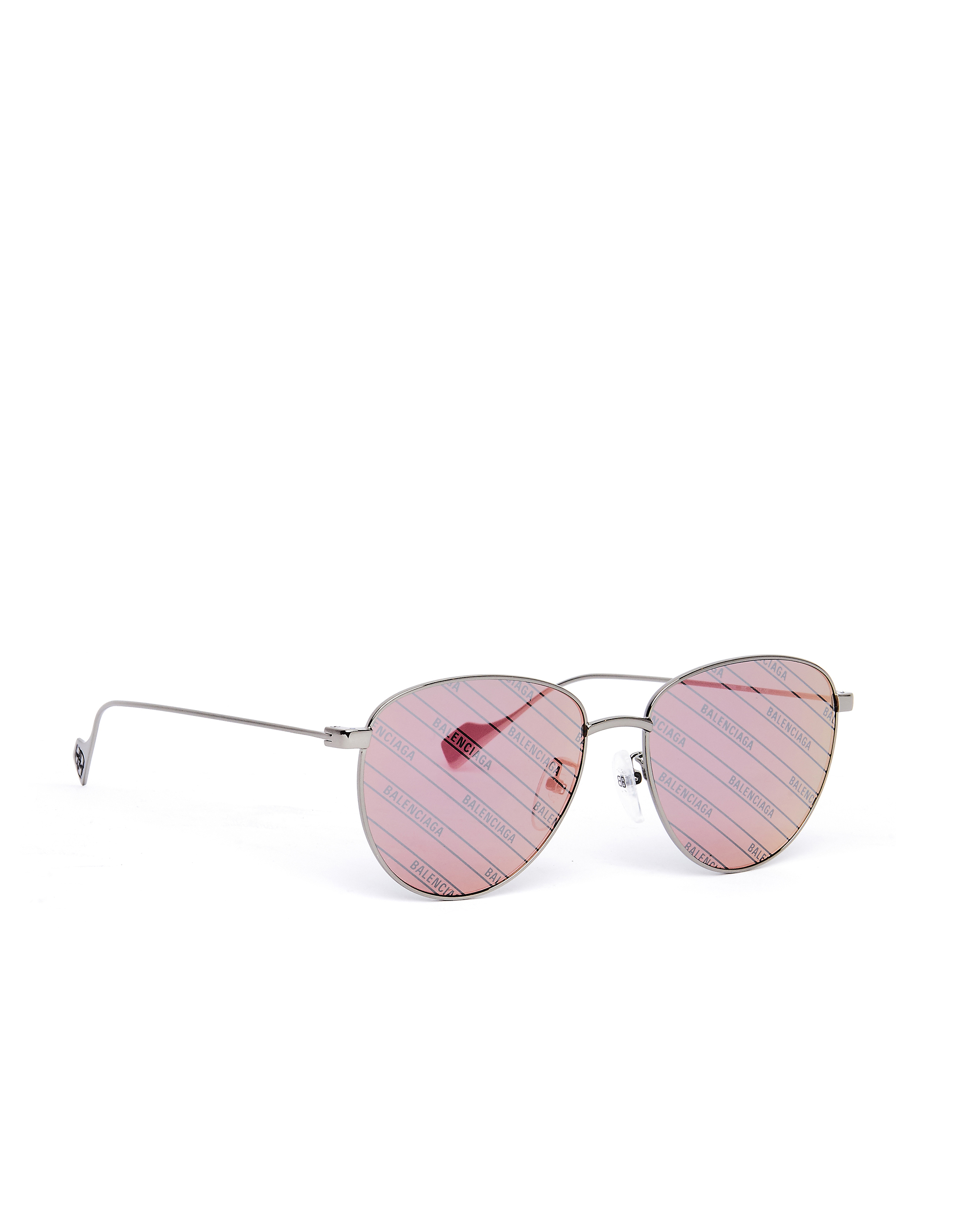 Balenciaga Mirrored Logo Printed Invisible Sunglasses