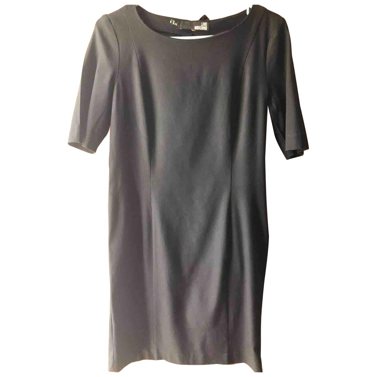 Moschino Love \N Kleid in  Schwarz Wolle