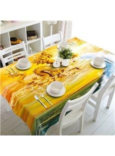 Magnificent Golden Dragon Prints Home Decoration 3D Tablecloth