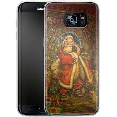 Samsung Galaxy S7 Edge Silikon Handyhuelle - Myles Pinkeney - Christmas Presence von TATE and CO